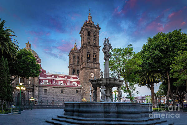 Wall Art - Photograph - Catedral De Puebla by Inge Johnsson