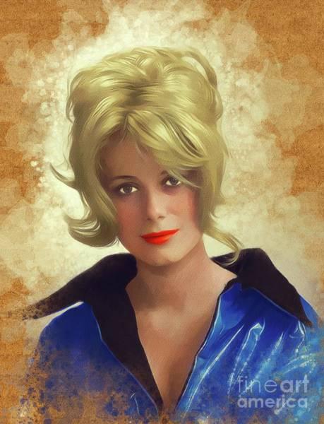 Wall Art - Painting - Catharine Deneuve, Vintage Actress by John Springfield