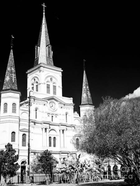 Photograph - Cathedral-basilica Of Saint Louis Profile In New Orleans by John Rizzuto