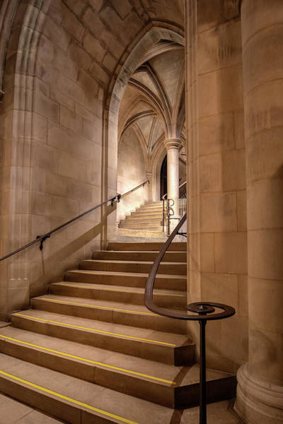 Photograph - Cathedral Crypt Stairs  by Harriet Feagin