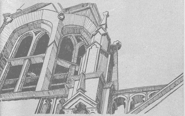 Drawing - Cathedral Helena Montana by Kevin Heaney