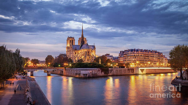 Photograph - Cathedral Notre Dame And River Seine by Brian Jannsen