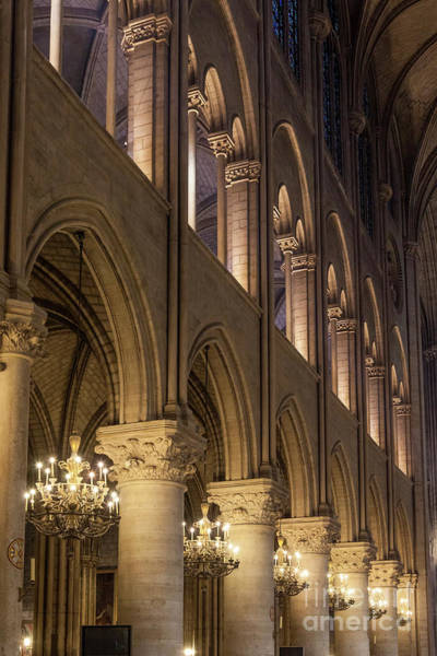 Photograph - Cathedral Notre Dame Columns by Brian Jannsen
