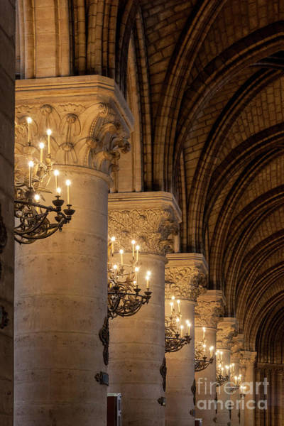 Photograph - Cathedral Notre Dame Columns II by Brian Jannsen