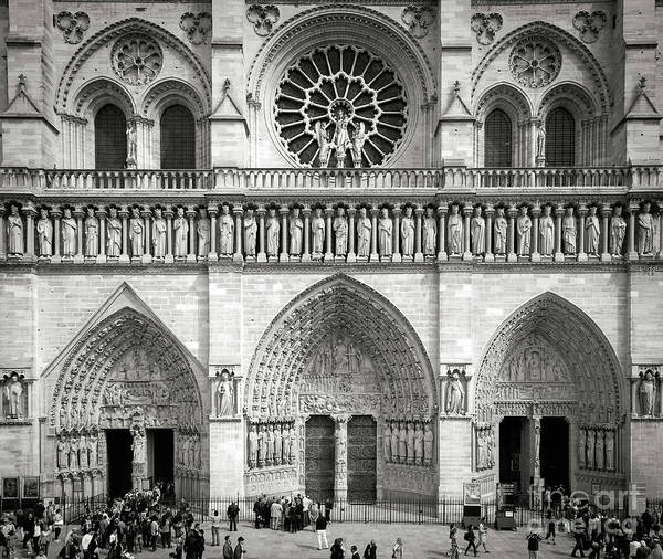 Photograph - Cathedral Notre Dame Entrance II by Brian Jannsen