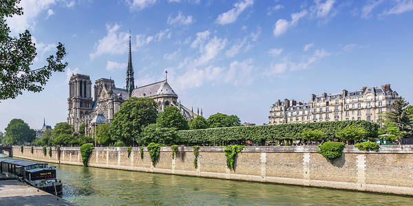 Wall Art - Photograph - Cathedral Notre-dame Panorama by Melanie Viola