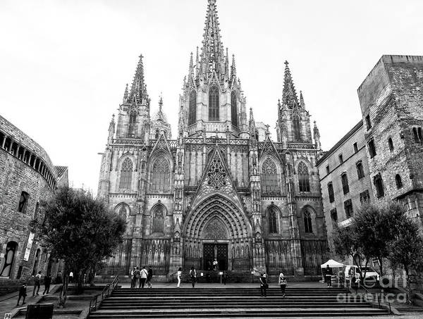 Photograph - Cathedral Of Barcelona Profile by John Rizzuto