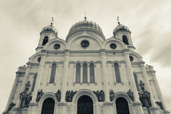 Cathedral Of Christ The Savior Photograph - Cathedral Of Christ The Saviour by Walter Bibikow