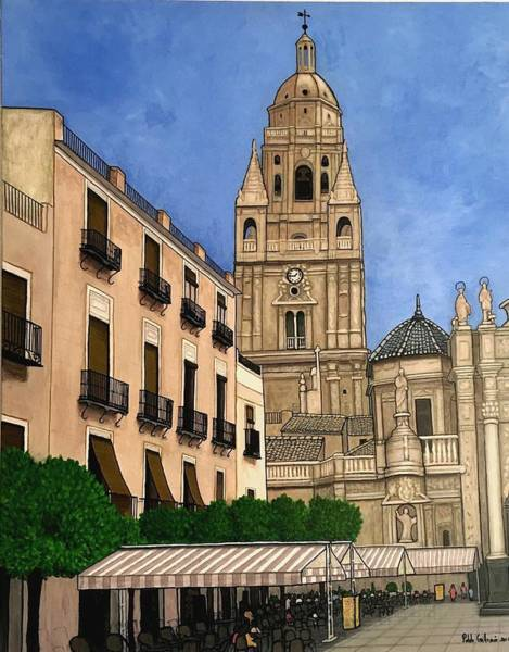 Murcia Painting - Cathedral Of Murcia by Pablo Guillamon