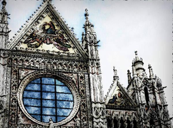 Painting - Cathedral Of Santa Maria Assunta, Siena - 02 by Andrea Mazzocchetti
