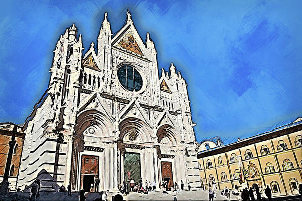 Painting - Cathedral Of Santa Maria Assunta, Siena - 04 by Andrea Mazzocchetti