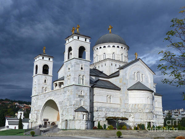Photograph - Cathedral Of The Resurrection Of Christ - Podgorica by Phil Banks