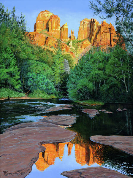 Wall Art - Painting - Cathedral Rock At Oak Creek by Timithy L Gordon