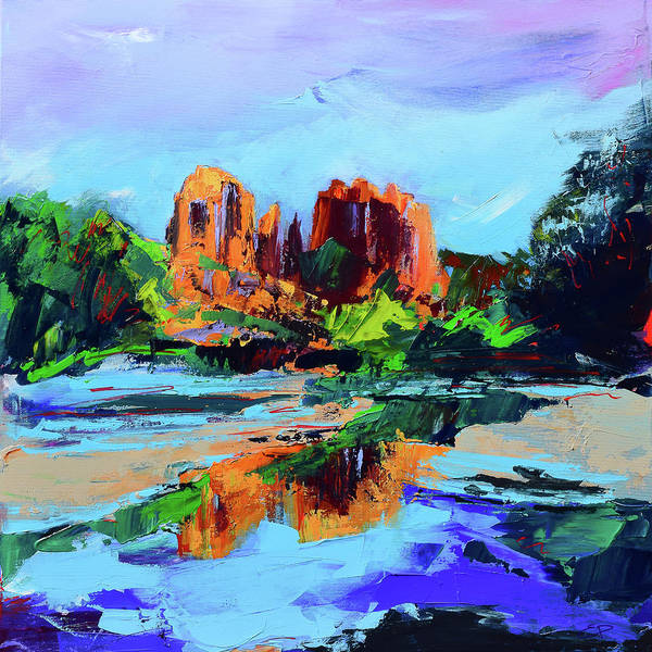 Painting - Cathedral Rock - Sedona - Square Version by Elise Palmigiani