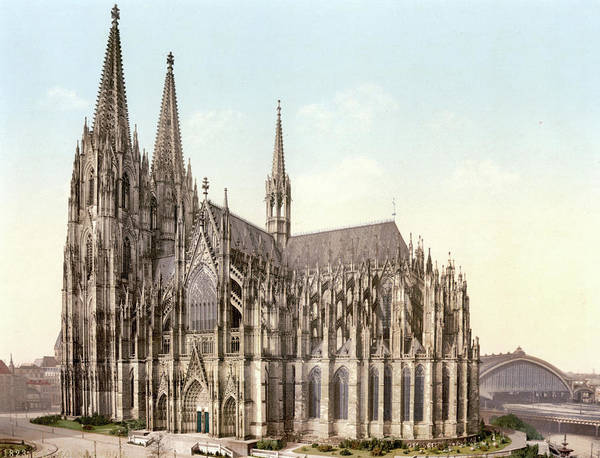 Wall Art - Photograph - Cathedral, Side, Cologne, The Rhine by Uig