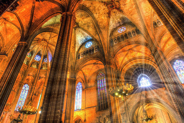Wall Art - Photograph - Cathedral Sun Rays by David Pyatt