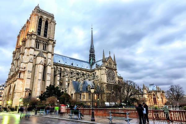 Photograph - Cathedrale Notre-dame De Paris by John Rizzuto