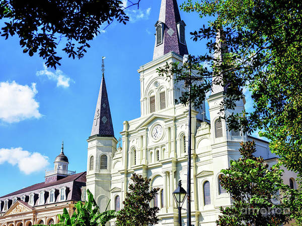 Photograph - Cathedrale Saint-louis In New Orleans by John Rizzuto