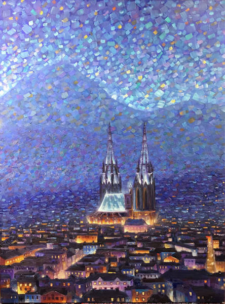 Painting - Cathedrale3 by Rob Buntin