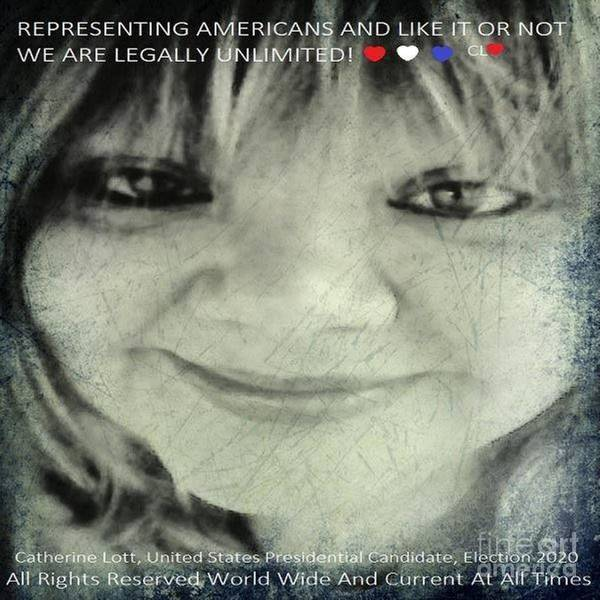 Digital Art - Catherine Lott Presidential Candidate Usa Election 2020 by Catherine Lott
