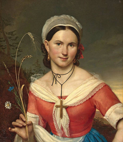 Painting - Catherine Teleshova by Orest Kiprensky