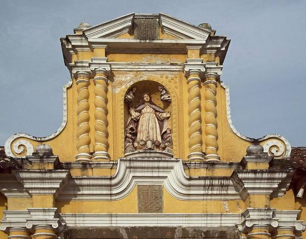 Wall Art - Photograph - Catholic Church Top Guatemala by Douglas Barnett
