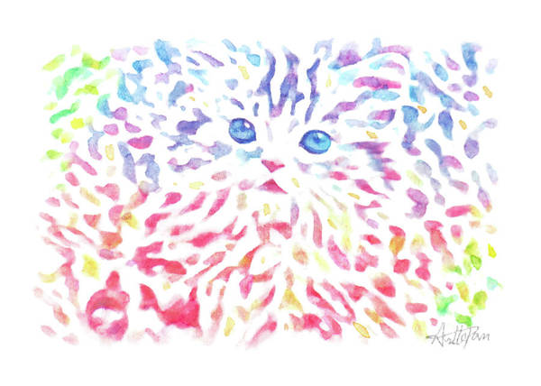 Bugling Drawing - Cat,kitten,kitty,catling,kitling-watercolor,colourful,dazzling,impressionismhandmade,hand-painted,gr by Artto Pan