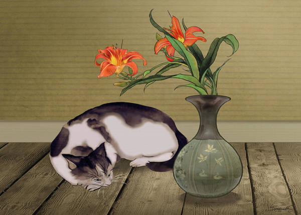 Wall Art - Digital Art - Catnap by M Spadecaller