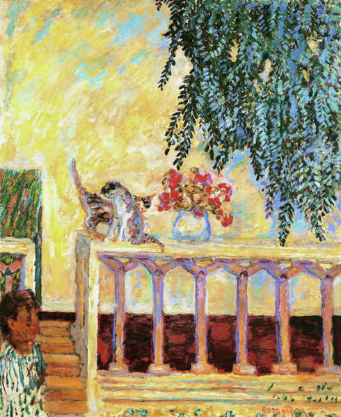 Wall Art - Painting - Cats On The Railing - Digital Remastered Edition by Pierre Bonnard