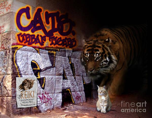 Digital Art - Cats, Urban Tigers by Rose De Dan