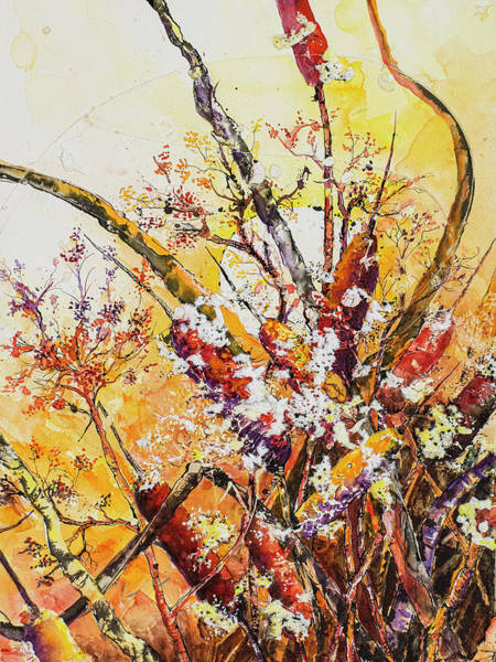 Painting - Cattail Autumn by Connie Williams
