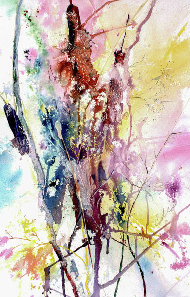 Painting - Cattail Color by Connie Williams
