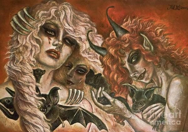 Cauchemar Painting - Cauchemar Fire by Julie Kitamura