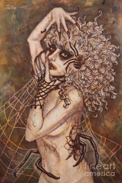 Cauchemar Painting - Cauchemar Spiderweb by Julie Kitamura