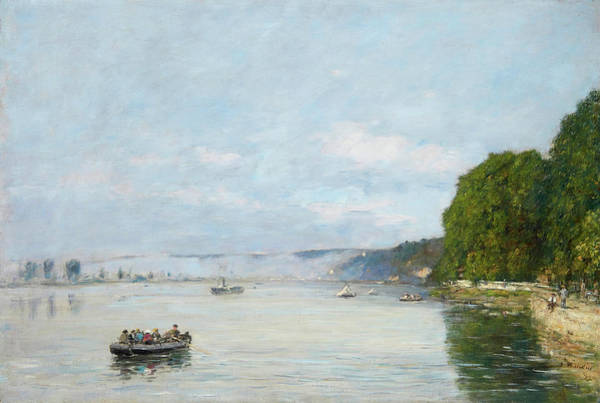 Wall Art - Painting - Caudebec-en-caux, Boats On The Seine by Eugene Boudin