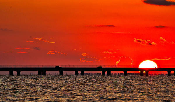 Photograph - Causeway Sunset by Tom Gresham