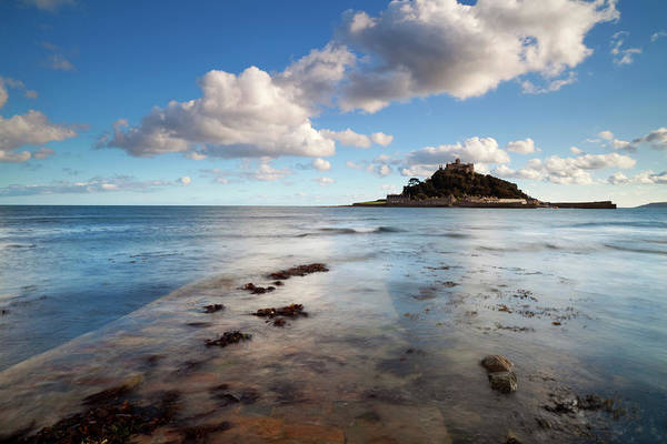 Seaweed Photograph - Causeway To St Michaels Mount by Simonbradfield