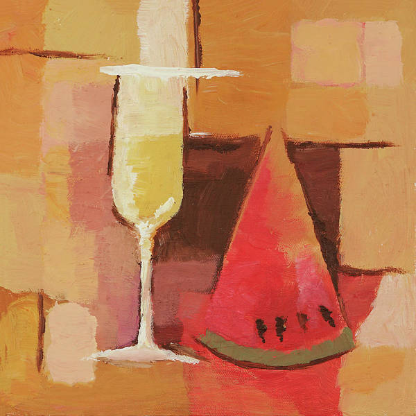 Wall Art - Painting - Cava And Melon by Lutz Baar