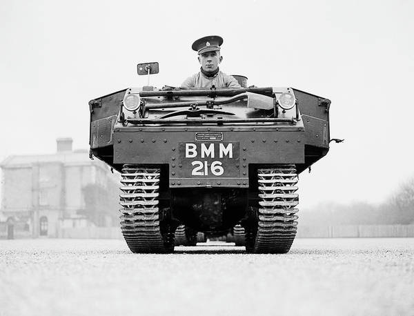 Armored Vehicle Photograph - Cavalry Tractor by A R Tanner