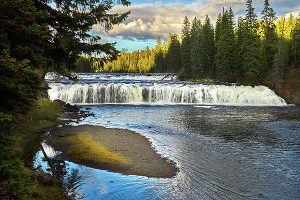 Photograph - Cave Falls Yellowstone National Park by TL Mair