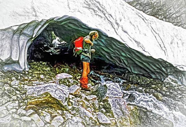 Wall Art - Photograph - Cave Man - Paint by Steve Harrington