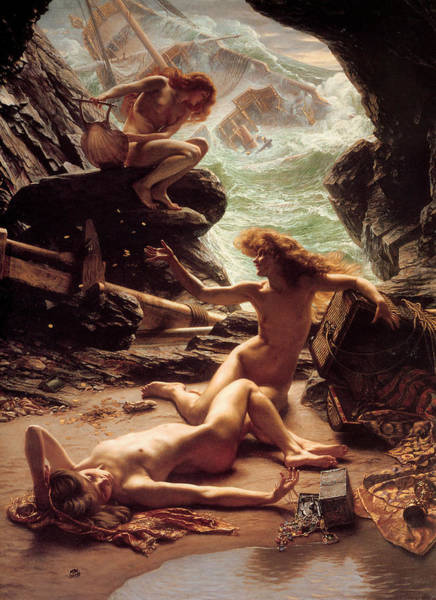 Wall Art - Painting - Cave Of The Storm Nymphs by Edward Poynter