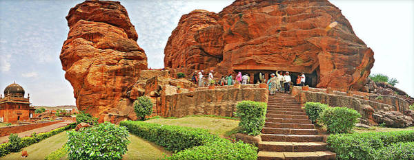 Karnataka Photograph - Cave Temples At Badami, Karnataka by Mukul Banerjee Photography