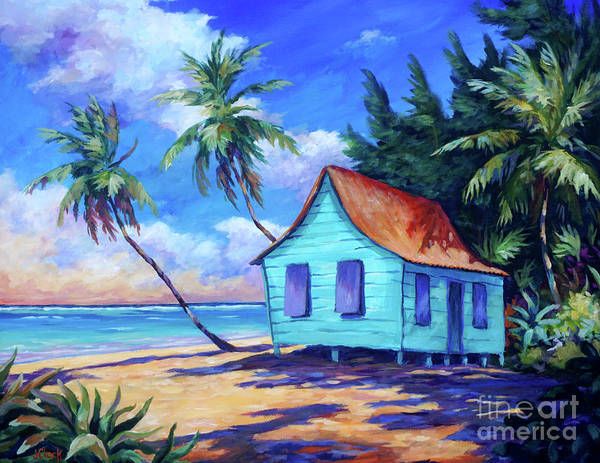 Wall Art - Painting - Cayman Cottage by John Clark