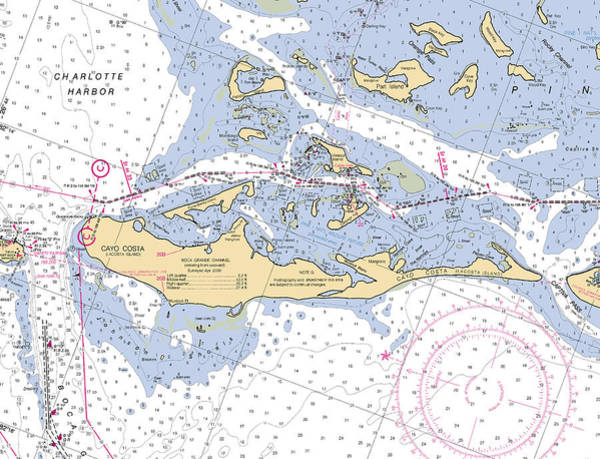 Photograph - Cayo Costa Nautical Chart by Paul and Janice Russell