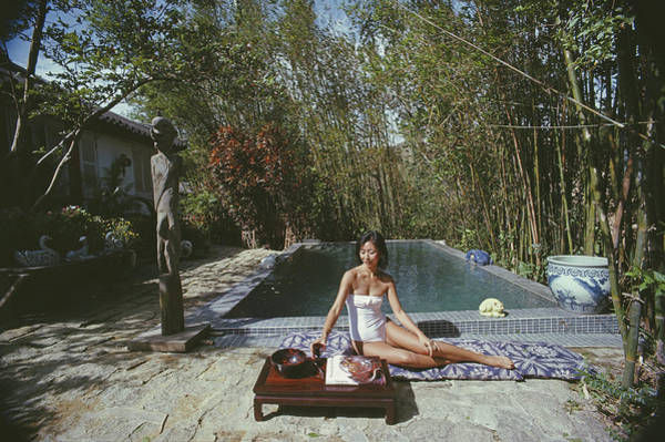 Pool Table Photograph - Cecily Godfrey by Slim Aarons