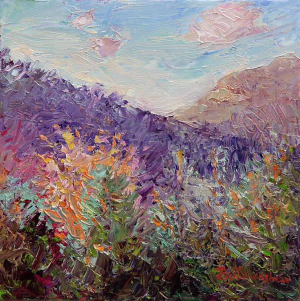 Painting - Cedar Cliff Afternoon Glow by Lisa Blackshear