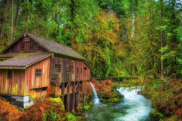 Photograph - Cedar Creek Grist Mill by Dee Browning