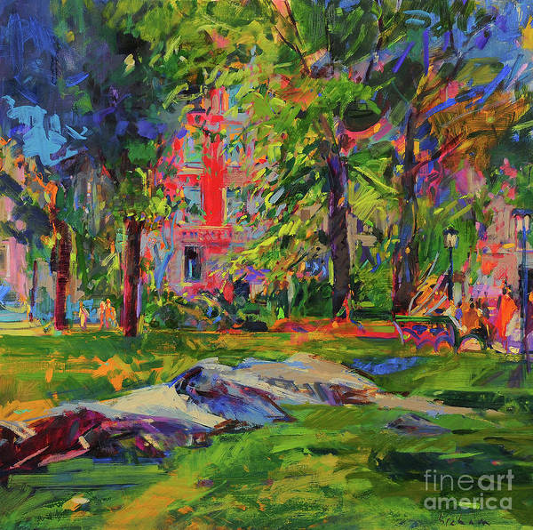 Wall Art - Painting - Cedar Hill, Central Park by Peter Graham