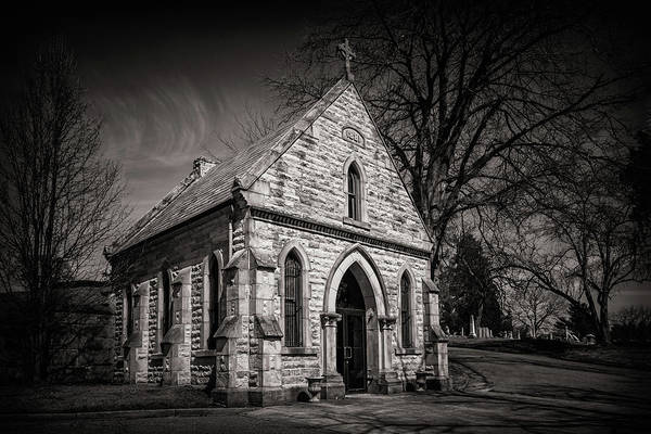 Graveyard Wall Art - Photograph - Cedar Hill Chapel by Tom Mc Nemar